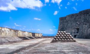 Stockpile at Castillo San Cristóbal