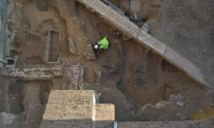 Remains of the original apse built in 1077 was unearthed during excavation work at St Albans Cathedral.
