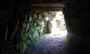 Enlarged entrance to Carn Euny fogou.