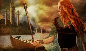 Illustration of a Celtic warrior woman by RottenRagamuffin