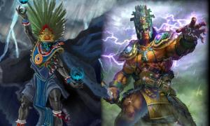 Chaac and Tlaloc