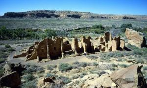 Some of the Chaco Canyon ruins are still standing