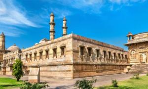 Jami Masjid, a major tourist attraction at Champaner-Pavagadh Archaeological Park - Gujarat, India              Source: Leonid Andronov / Adobe Stock