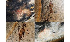 10,000-year-old rock paintings depict UFOs and extra-terrestrials - Charama India