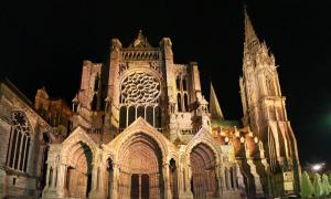 Chartres Cathedral, Eure-et-Loir, Centre, France. The north facade.
