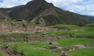Chavin de Huantar ruins in Peru, where one researcher says the mythical home of the ancient Greek Gorgon may have been.