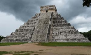Original pyramid found underneath two outer pyramids at Chichen Itza in Yucatan