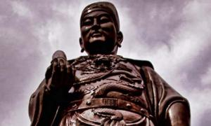 Detail of General Zheng He statue in Sam Po Kong temple, Semarang, Indonesia.