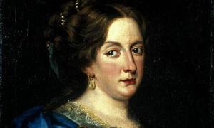 A portrait of Queen Christina by Jacob Ferdinand Voet.