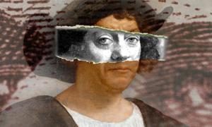 Portrait attributed as Christopher Columbus (Public Domain) Deriv.