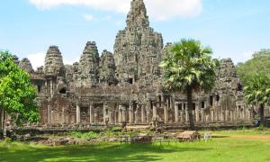 Bayron Temple, the most notable temple in Angkor Thom