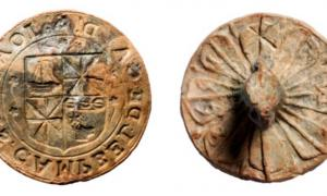 Clan Campbell seal matrix of Sir John Campbell of Cawdor.    Source: Sarah Lambert-Gates & Darko Maricevic ̌ / Antiquity Publications Ltd