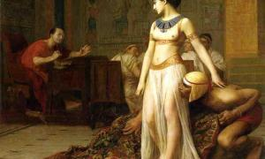 Cleopatra and Caesar (1866). Painting by Jean-Léon Gérôme.