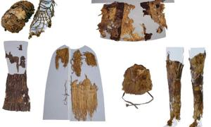 This photo of Ötzi's clothing was taken by Niall O Sullivan of the Institute for Mummies and the Iceman.