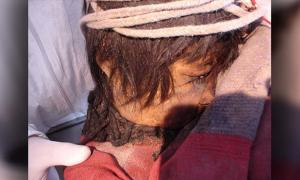 Llullaillaco boy's mummy in Salta Province, Argentina.