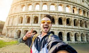 Representative selfie taken at the Colosseum , Rome  Source: Davide Angelini / Adobe Stock