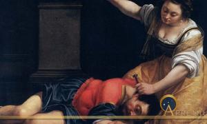 Jael and Sisera by Artemisia Gentileschi (1620) (Public Domain)