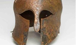 Customized Bronze Corinthian Helmet Found In Israeli Waters