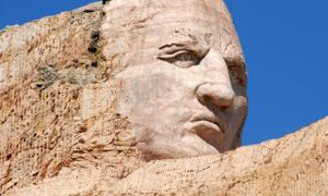 Close up of the monument to Crazy Horse. Source: Scott Lee / Public Domain.