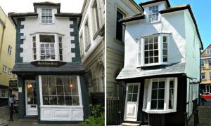 The Crooked House of Windsor. Left: From the Front. Right: From the Back