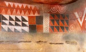 Painted cave in Galdar, Grand Canary Island.