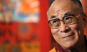 A photograph of the 14th Dalai Lama