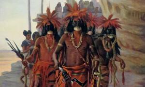 Detail of 'Hopi Snake Dance' by Cornelia Cassady-Davis.