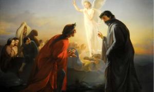Dante e Virgilio nel Purgatorio, Domenico Morelli