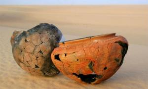 6,000-year-old prehistoric pottery from the Sahara Desert, which was subjected to the new dating technique. Source: Emmanuelle Casanova et al. / University of Bristol / Nature