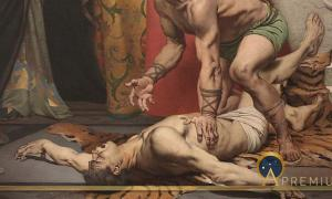 Detail of the Murder of Commodus by Fernand Pelez. (1879). (Public Domain)