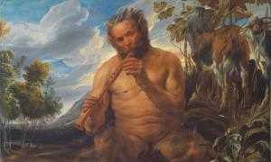Satyr Playing the Pipe (Jupiter's Childhood) (fragment) Jacob Jordaens 1639