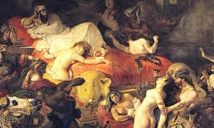 Death of Sardanapalus by Eugène Delacroix.
