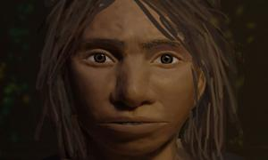 A preliminary portrait of a juvenile female Denisovan based on a skeletal profile reconstructed from ancient DNA methylation maps. Source: Maayan Harel
