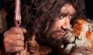 Depiction of a Neanderthal