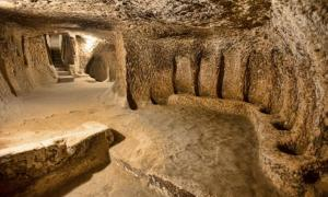 Derinkuyu underground city in Cappadocia, Turkey.