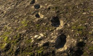 Devil's Footprints: Who Descended the Side of an Erupting Volcano, Leaving an Ancient Trail Behind?