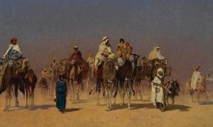 The Desert Caravan by Edmund Berninger