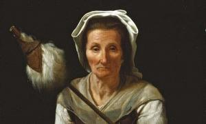 """Detail of """"An Old Woman Spinning"""" (1646-1648) by Michiel Sweerts."""