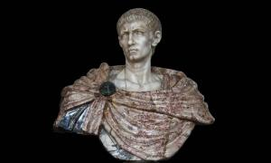 Gaius Aurelius Valerius Diocletianus (ca.245-313), Roman Emperor Diocletian. Marble bust, XVIIth century, Florence, Italy. On display at Château de Vaux-le-Vicomte, France.