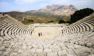 Ancient Greek theater (Segesta).