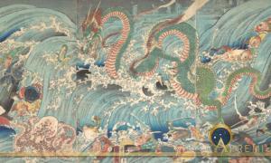 Recovering the Stolen Jewel from the Palace of the Dragon King. Utagawa Kuniyoshi (1853) The Metropolitan Museum of Art (CC0)