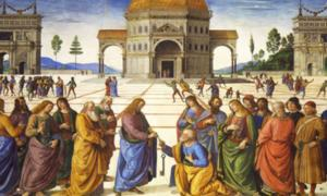 Pietro Perugino's use of perspective in this fresco at the Sistine Chapel (1481–82) helped bring the Renaissance to Rome