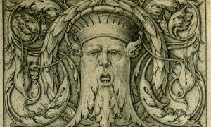 Drawing of a Green Man. Beham, (Hans) Sebald, 1500-1550