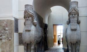Winged human-headed bull, lamassu or shedu, the Lost City of Dur-Sharrukin.