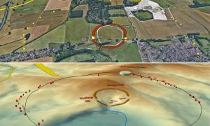 Maps of the extensive Neolithic structures show the new Durrington Shafts feature dwarfing all other ancient developments. Source: © University of Bradford
