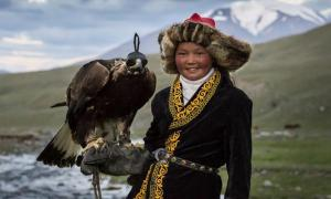 13 year old Asholpan, Eagle Huntress.