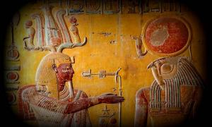 """""""Litany of Ra"""" scene in the tomb of King Merenptah (KV8), Valley of the Kings, Luxor; design by Anand Balaji"""