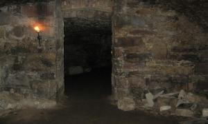 The damp, dark, and chilling chambers and tunnels of the Edinburgh Vaults.