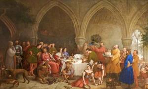 Edward II feasting at Cirencester, Gloucestershire.