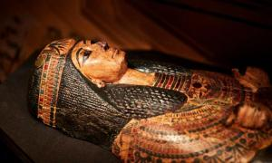 Sarcophagus of Nesyamun, source of the Mummy's voice      Source: © Leeds Museums and Galleries